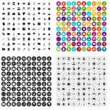 100 vecteur réglé de danger par icônes variable illustration de vecteur