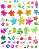 Vecteur réglé de fleur Images stock