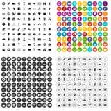 100 vecteur réglé de journaliste de sport par icônes variable Photo libre de droits