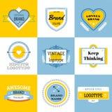 Vecteur réglé de paquet de logo massif Image libre de droits