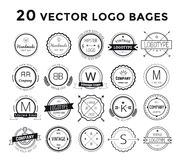Vecteur réglé de paquet de logo massif Photos libres de droits