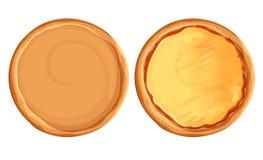 Vecteur réglé de pizza Tarte et ingrédients d'isolement Ensemble de vue supérieure de Kit Pizza de création d'aliments de prépara illustration de vecteur