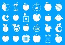 Vecteur réglé de pomme de bleu différent d'icône Photographie stock