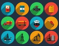 Vecteur réglé de production de pétrole illustration stock