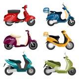 vecteur réglé de scooter Photographie stock
