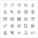 Vecteur réglé de SEO Outline Icons Photographie stock libre de droits