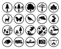vecteur réglé de signes de nature d'illustration Photographie stock
