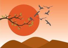 Vecteur réglé de Sun Image stock