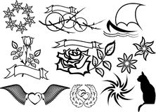 Vecteur réglé de tatouage Photographie stock