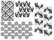Vecteur réglé de texture sans joint Images stock