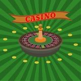 vecteur réglé de trame d'illustration de casino Photos stock