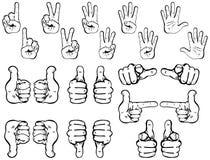 Vecteur réglé : Mains Image libre de droits