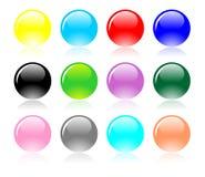 Vecteur réglé par billes colorées Image libre de droits
