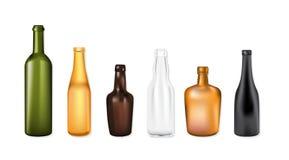 vecteur réglé par bouteilles Photographie stock libre de droits
