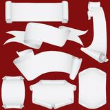 vecteur réglé par défilements de papier de cmyk de drapeaux Photos stock