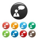 Vecteur réglé par icônes de haut-parleur simple Photographie stock