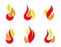 Vecteur réglé par icônes du feu Photographie stock