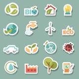 Vecteur réglé par icônes d'Eco Photographie stock libre de droits