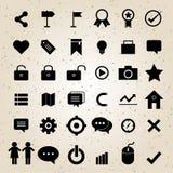Vecteur réglé par icônes de web design Images stock