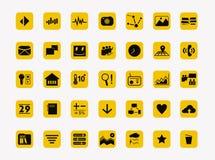 Vecteur réglé par icônes simples pour la conception Image stock