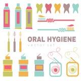 Vecteur réglé sur le thème de soins dentaires Images stock