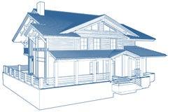 Vecteur résidentiel de construction de logements de famille d'isolement sur le blanc illustration stock
