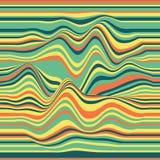 vecteur rayé de fond ondes abstraites de couleur Oscillation d'onde sonore Lignes courbées géniales Texture onduleuse élégante Photo stock