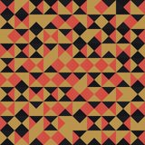 Vecteur rectangulaire d'or, noir et rouge sans couture de grille de modèle Images libres de droits
