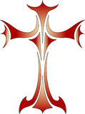 vecteur religieux chrétien en travers de symbole Image libre de droits