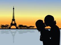 Vecteur romantique de Paris Photo libre de droits