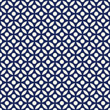 Vecteur rond arabe de bleu d'indigo de porcelaine et blanc sans couture de modèle illustration stock