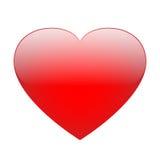 Vecteur rouge de coeur illustration stock