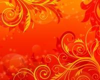 Vecteur rouge de cru de fond floral de défilement Image libre de droits