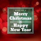 Vecteur rouge de design de carte de salutation de Noël Photographie stock libre de droits