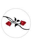 vecteur rouge de roses Photo stock