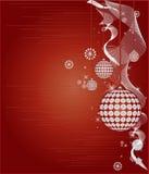 Vecteur rouge de trame de Noël Photos stock