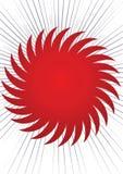 Vecteur rouge du soleil Image libre de droits