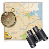 Vecteur Safari Map Images stock