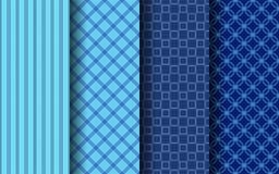 Vecteur sans couture bleu du modèle ENV 10 de bande de couleur Photos libres de droits
