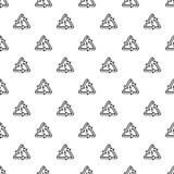 Vecteur sans couture d'énergie de modèle triangulaire de flèche illustration stock