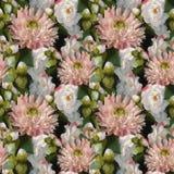 Vecteur sans couture de fond de texture de modèle de fleurs de l'aquarelle 3D en bouquet de composition de pivoine de rose romant illustration de vecteur