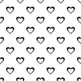 Vecteur sans couture de modèle énorme de coeur illustration libre de droits