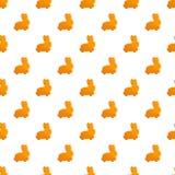 Vecteur sans couture de modèle de biscuit de lapin illustration stock