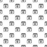 Vecteur sans couture de modèle de calendrier juif illustration libre de droits