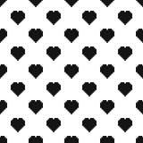 Vecteur sans couture de modèle de coeur de pixel illustration libre de droits