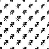 Vecteur sans couture de modèle d'emblème d'étoile illustration de vecteur
