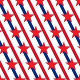 Vecteur sans couture de modèle de bannière étoilée américaine Photos libres de droits