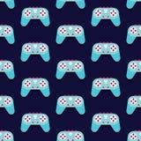Vecteur sans couture de modèle de Gamepad Images stock