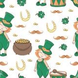 """Vecteur sans couture de modèle de jour de S ALE Saint Patrick de PATRICK """" illustration de vecteur"""
