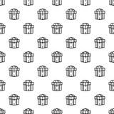 Vecteur sans couture de modèle juif de boîte-cadeau illustration libre de droits